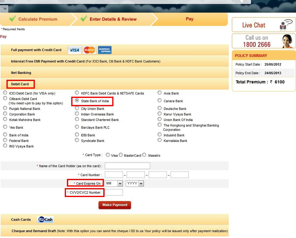 What and where is the credit/debit Card Verification Number (CVV