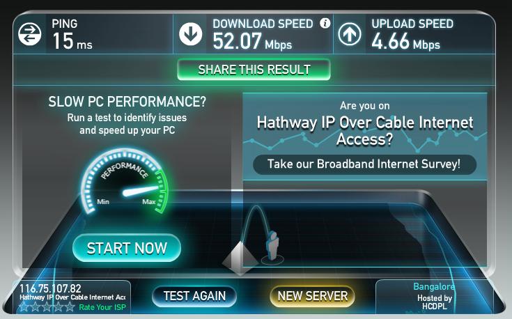 Beware of Hathway DocSIS 3.0 50Mbps connection (Bangalore ...