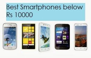 Top 5 smartphones under 10,000